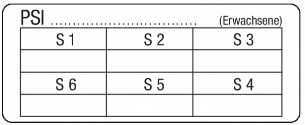 Parodontaler Screening Index (Erwachsene) - Etikett