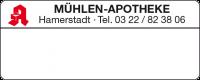 Dosierungs-Etikett mit Apothekennamen