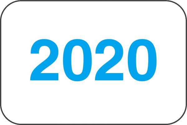 Jahreszahlen - Etiketten 2020
