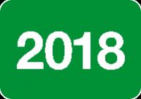 Jahreszahlen - Etiketten 2018