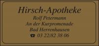 Gold-Etikett mit Adresse