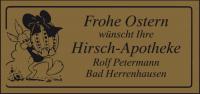 Gold-Etikett mit Ostermotiv