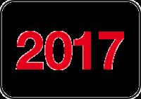 Jahreszahlen - Etiketten 2017