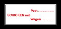 Schicken mit Post / Wagen