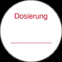 Dosierungs-Etikett
