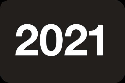 Jahreszahlen - Etiketten 2021
