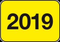 Jahreszahlen - Etiketten 2019