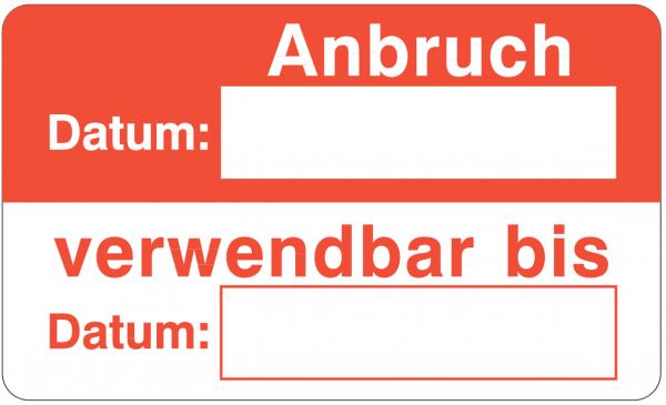 Anbruch Datum / Verwendbar bis Datum