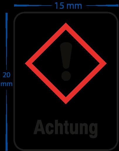 """Gefahrensymbol """"Achtung Giftig / Gesundheitsschädlich"""" Aufkleber 15 x 20 mm"""