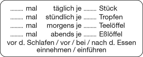 Dosierungs-Etikett   Dosierungs-Etiketten   Apotheken   Bertram ...